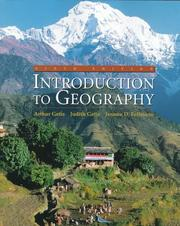 Cover of: Introduction to geography