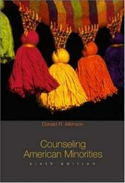 Cover of: Counseling American Minorities | Donald R. Atkinson