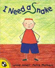 Cover of: I Need a Snake