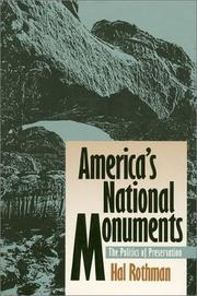 Cover of: America's National Monuments
