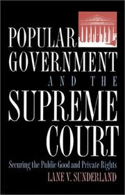 Cover of: Popular government and the Supreme Court