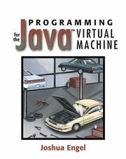 Cover of: Programming for the Java(TM) Virtual Machine