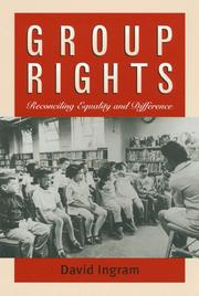 Cover of: Group Rights | David Ingram