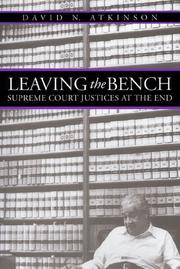Cover of: Leaving the Bench | David N. Atkinson