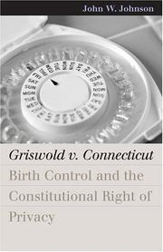 Cover of: Griswold V. Connecticut