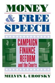 Cover of: Money and speech