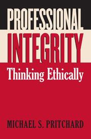Cover of: Professional integrity