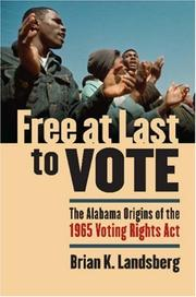 Cover of: Free at Last to Vote