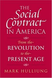 Cover of: The Social Contract in America | Mark Hulliung