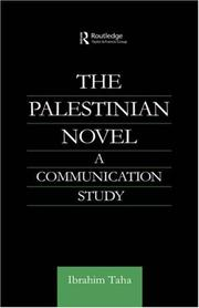Cover of: The Palestinian Novel | Ibrahim Taha
