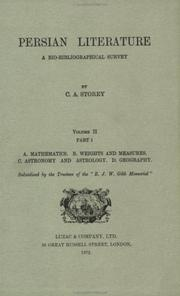 Persian literature by C. A. Storey