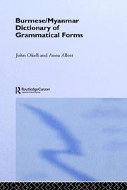 Cover of: Burmese (Myanmar) Dictionary of Grammatical Forms