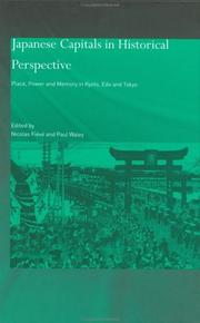 Cover of: Japanese Capitals in Historical Perspective | Paul Waley