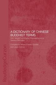 Cover of: A Dictionary of Chinese Buddhist Terms