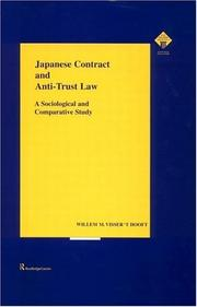 Cover of: Japanese Contract and Anti-Trust Law | Visser t