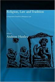 Cover of: Religion, Law and Tradition | Andrew Huxley