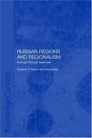 Cover of: Russian regions and regionalism |