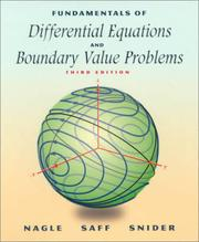 Cover of: Fundamentals of differential equations and boundary value problems