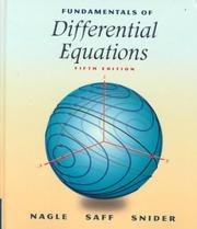 Cover of: Fundamentals of differential equations