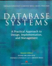 Cover of: Database systems | Thomas M. Connolly