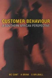 Cover of: Customer Behaviour | M. C. Cant