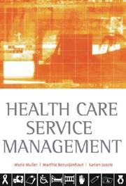 Cover of: Health care service management