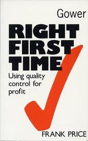 Cover of: Right first time