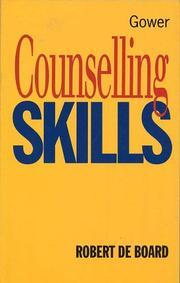 Cover of: Counselling skills | Robert De Board