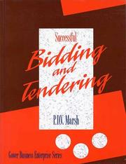 Cover of: Successful bidding and tendering