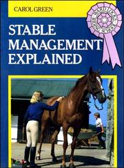 Cover of: Stable Management Explained (Ward Lock's Riding School)