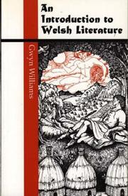 Cover of: Introduction to Welsh Literature (University of Wales Press - Writers of Wales)