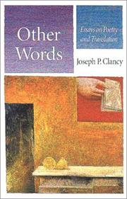 Cover of: Other words | Joseph P. Clancy