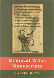 Cover of: Medieval Welsh manuscripts