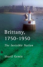 Cover of: Brittany, 1750-1950