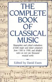 Cover of: The complete book of classical music