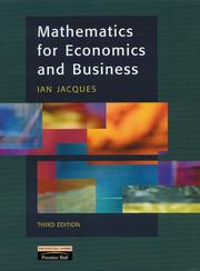 Cover of: Mathematics for economics and business