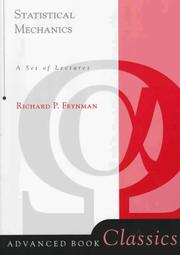 Cover of: Statistical mechanics: a set of lectures