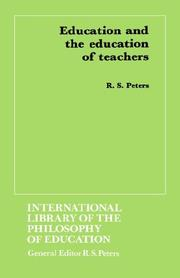 Cover of: Education and the education of teachers