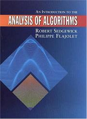 Cover of: An introduction to the analysis of algorithms