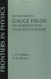 Cover of: Gauge Fields (On Demand Printing of 52472) (Frontiers in Physics)