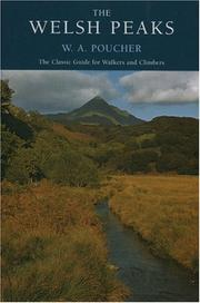 Cover of: Welsh Peaks (W a Pouchers Guides) | Poucher, W. A.