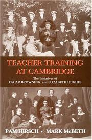 Cover of: DEVELOPMENT OF TEACHER TRAINING AT CAMBRIDGE (Woburn Education)