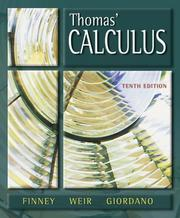 Cover of: Thomas' calculus