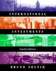 Cover of: International Investments