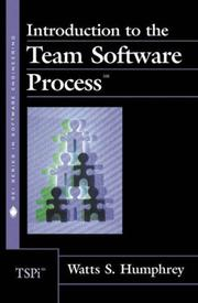 Cover of: Introduction to the Team Software Process(sm) (The SEI Series in Software Engineering)