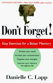 Don't Forget by Danielle C. Lapp