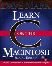 Cover of: Learn C on the Macintosh