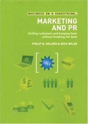 Cover of: Marketing and PR on a Shoestring | Philip R. Holden