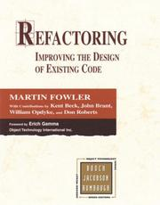 Cover of: Refactoring