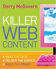Cover of: Killer Web Content | Gerry McGovern